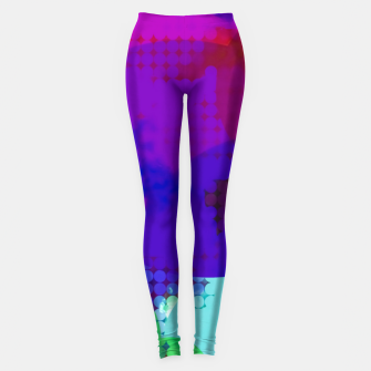 Thumbnail image of geometric circle pattern abstract in blue purple pink Leggings, Live Heroes