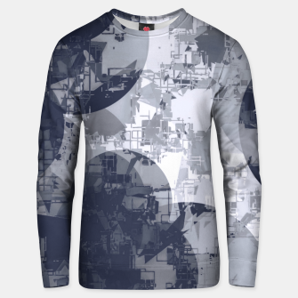 Miniatur geometric circle pattern abstract in black and white Unisex sweater, Live Heroes
