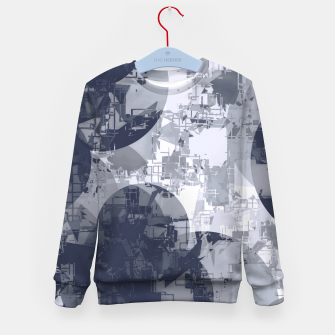 Thumbnail image of geometric circle pattern abstract in black and white Kid's sweater, Live Heroes