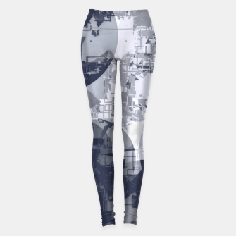 Miniatur geometric circle pattern abstract in black and white Leggings, Live Heroes