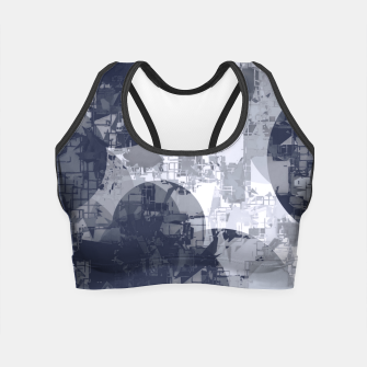 Miniatur geometric circle pattern abstract in black and white Crop Top, Live Heroes