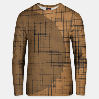 Miniatur geometric square and circle pattern in brown Unisex sweater, Live Heroes