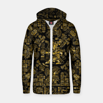 Mayan Spring GOLD Zip up hoodie thumbnail image