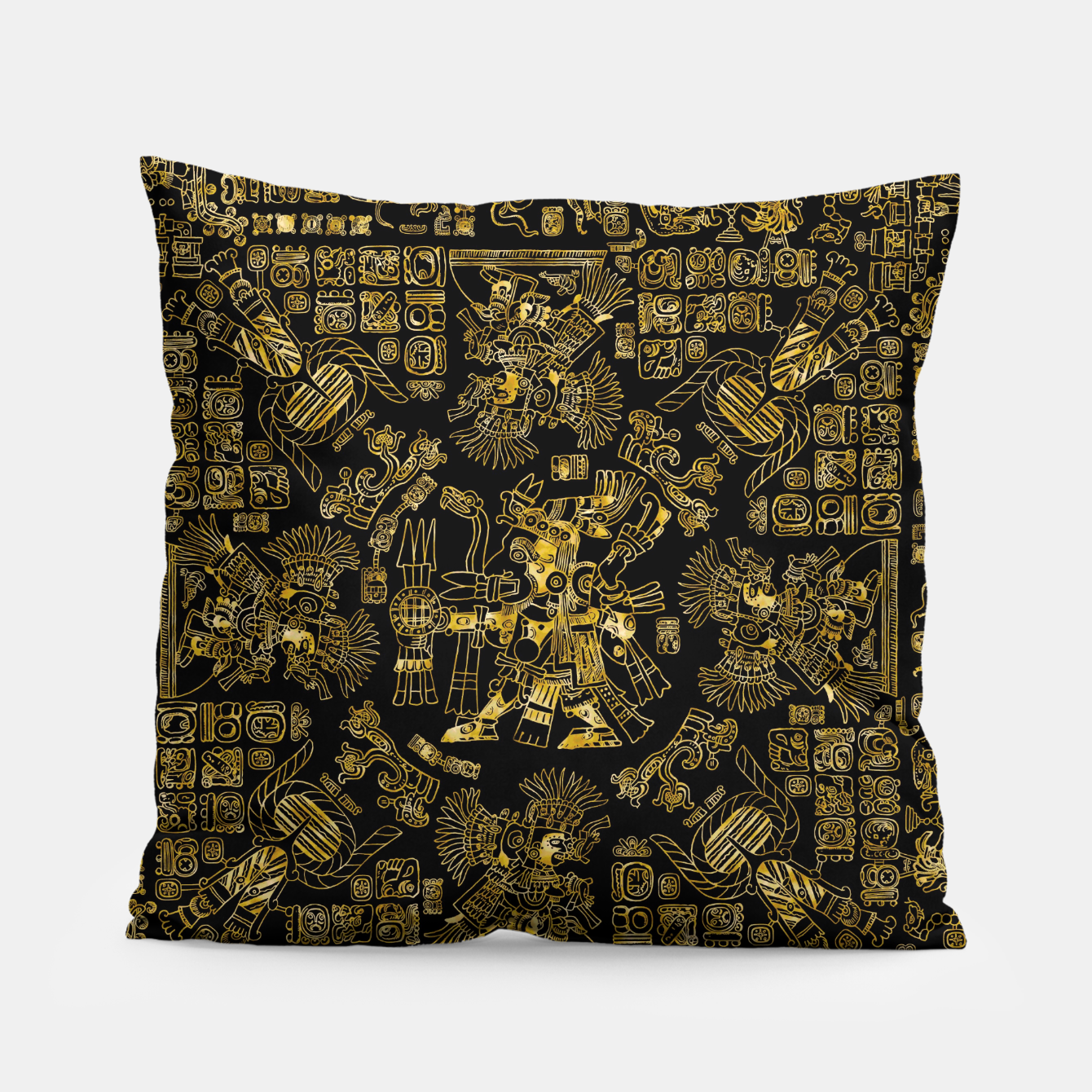 Image of Mayan Spring GOLD Pillow - Live Heroes