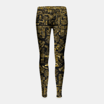 Thumbnail image of Mayan Spring GOLD Girl's leggings, Live Heroes