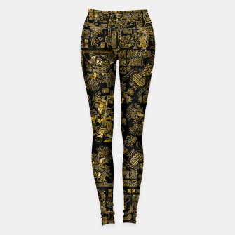 Thumbnail image of Mayan Spring GOLD Leggings, Live Heroes