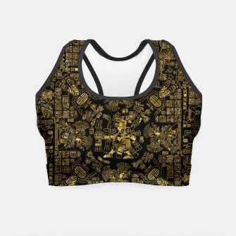 Thumbnail image of Mayan Spring GOLD Crop Top, Live Heroes