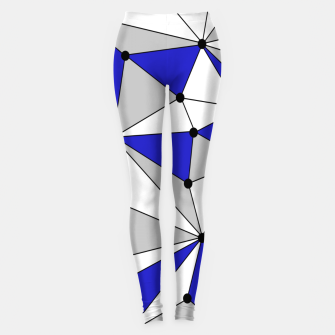Thumbnail image of Abstract geometric pattern - blue, gray and white. Leggings, Live Heroes
