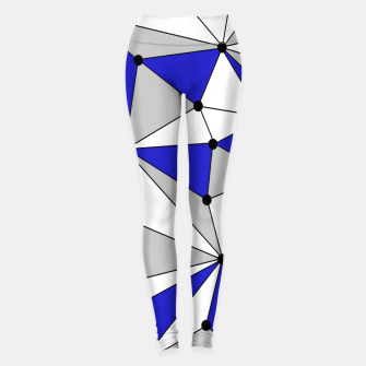 Miniatur Abstract geometric pattern - blue, gray and white. Leggings, Live Heroes