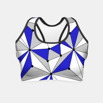 Miniatur Abstract geometric pattern - blue, gray and white. Crop Top, Live Heroes