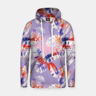 Miniatur TROPICAL LEAF PRINT IN PINK, LILAC, & ORANGE Hoodie, Live Heroes