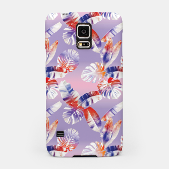 Miniatur TROPICAL LEAF PRINT IN PINK, LILAC, & ORANGE Samsung Case, Live Heroes