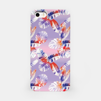 Miniatur TROPICAL LEAF PRINT IN PINK, LILAC, & ORANGE iPhone Case, Live Heroes
