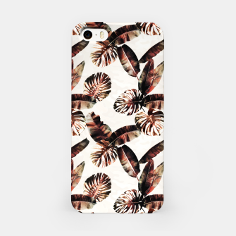 Miniatur TROPICAL LEAF PRINT IN DARK GREEN & BURNT SIENNA iPhone Case, Live Heroes
