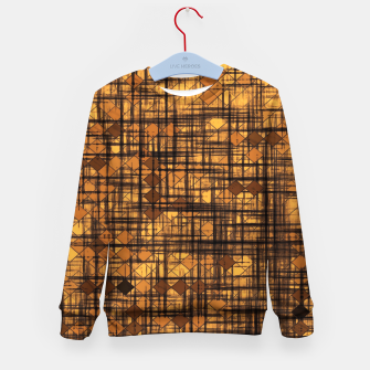 Thumbnail image of geometric square pixel pattern abstract in brown Kid's sweater, Live Heroes