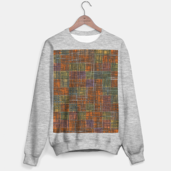 Thumbnail image of geometric square pattern abstract in orange brown green yellow Sweater regular, Live Heroes