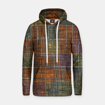 Thumbnail image of geometric square pattern abstract in orange brown green yellow Hoodie, Live Heroes