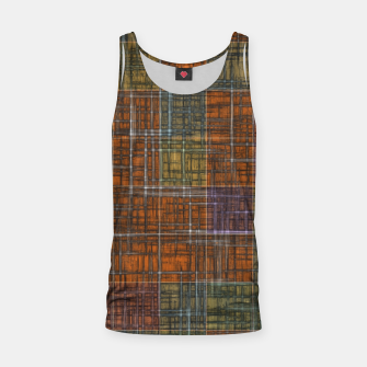 Thumbnail image of geometric square pattern abstract in orange brown green yellow Tank Top, Live Heroes