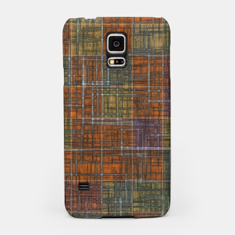 Thumbnail image of geometric square pattern abstract in orange brown green yellow Samsung Case, Live Heroes