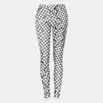 Miniatur geometric square shape pattern abstract background in black and white Leggings, Live Heroes