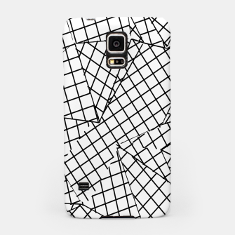 Thumbnail image of geometric square pattern abstract background in black and white Samsung Case, Live Heroes