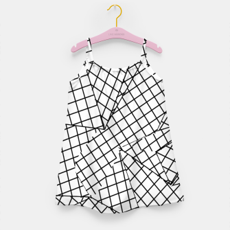 Thumbnail image of geometric square pattern abstract background in black and white Girl's dress, Live Heroes