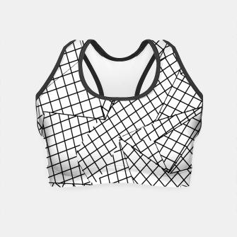 Thumbnail image of geometric square pattern abstract background in black and white Crop Top, Live Heroes
