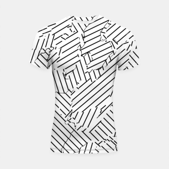 Thumbnail image of geometric line abstract pattern abstract background in black and white Shortsleeve rashguard, Live Heroes