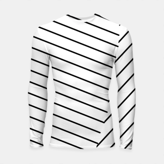 Thumbnail image of geometric line abstract pattern background in black and white Longsleeve rashguard , Live Heroes