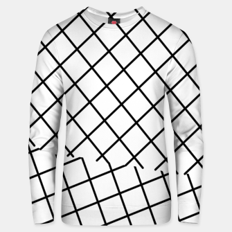 Miniatur geometric square shape pattern abstract background in black and white Unisex sweater, Live Heroes