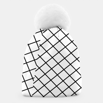 Thumbnail image of geometric square shape pattern abstract background in black and white Beanie, Live Heroes