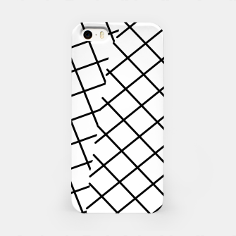 Thumbnail image of geometric square shape pattern abstract background in black and white iPhone Case, Live Heroes