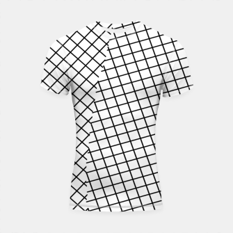 Thumbnail image of geometric square line pattern abstract background in black and white Shortsleeve rashguard, Live Heroes
