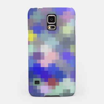 Thumbnail image of geometric square pixel pattern abstract in blue purple pink Samsung Case, Live Heroes