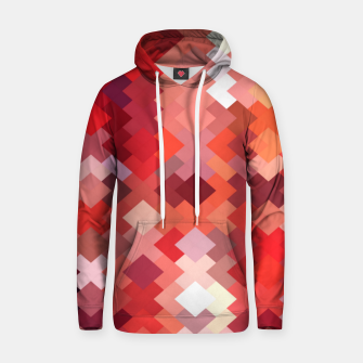 Thumbnail image of geometric square pixel pattern abstract in red and brown Hoodie, Live Heroes