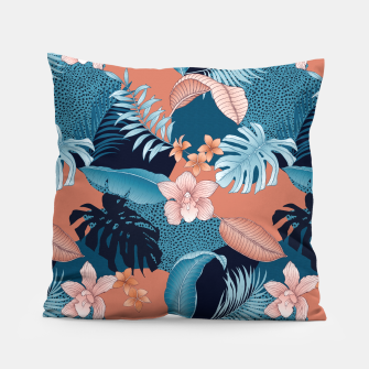 Thumbnail image of TROPICAL CHAOS PATCHWORK PRINT Pillow, Live Heroes
