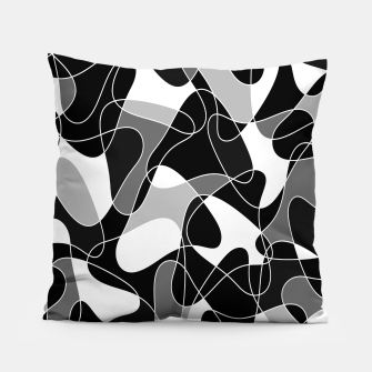 Thumbnail image of Abstract pattern - gray, black and white. Pillow, Live Heroes