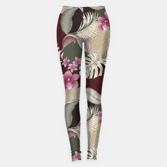 Thumbnail image of TROPICAL CHAOS PATCHWORK PRINT Leggings, Live Heroes
