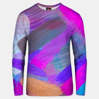 Thumbnail image of pink brown purple blue painting abstract background Unisex sweater, Live Heroes