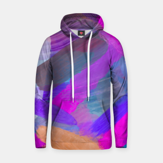 Thumbnail image of pink brown purple blue painting abstract background Hoodie, Live Heroes