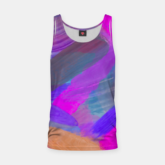 Thumbnail image of pink brown purple blue painting abstract background Tank Top, Live Heroes