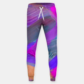 Thumbnail image of pink brown purple blue painting abstract background Sweatpants, Live Heroes