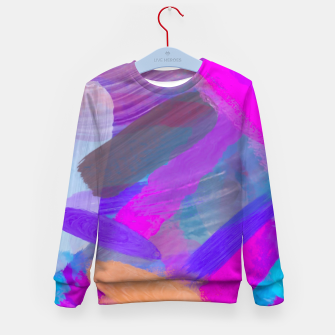Thumbnail image of pink brown purple blue painting abstract background Kid's sweater, Live Heroes