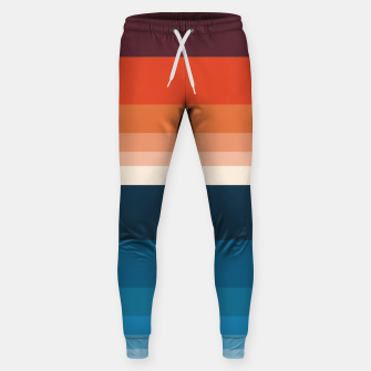 Miniature de image de HORIZON STRIPE IN ORANGE & BLUE Sweatpants, Live Heroes
