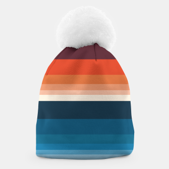 Miniature de image de HORIZON STRIPE IN ORANGE & BLUE Beanie, Live Heroes