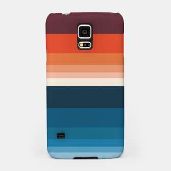 Miniature de image de HORIZON STRIPE IN ORANGE & BLUE Samsung Case, Live Heroes