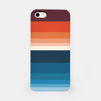 Miniature de image de HORIZON STRIPE IN ORANGE & BLUE iPhone Case, Live Heroes
