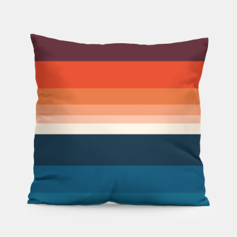 Miniature de image de HORIZON STRIPE IN ORANGE & BLUE Pillow, Live Heroes