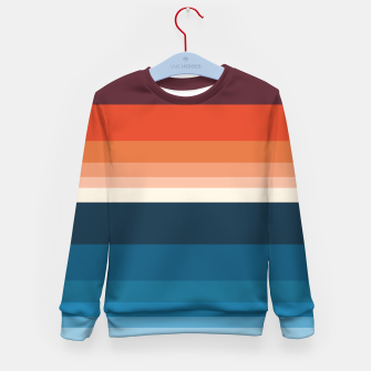Miniature de image de HORIZON STRIPE IN ORANGE & BLUE Kid's sweater, Live Heroes