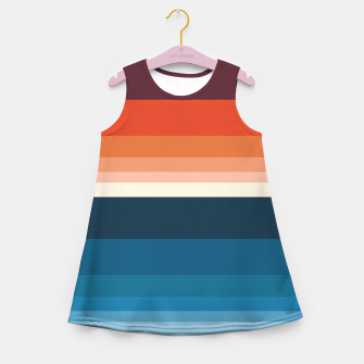 Miniature de image de HORIZON STRIPE IN ORANGE & BLUE Girl's summer dress, Live Heroes